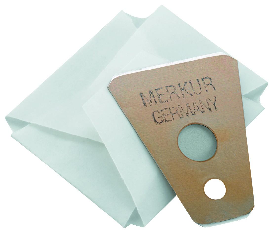 Lâminas DEscartáveis Merkur para Corte de Bigode - 10 Unidades