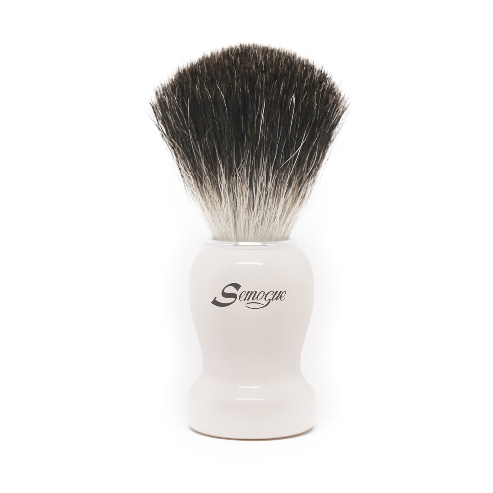 Pincel de Barba Pharos-C3 Texugo Pure Grey Branco Ártico