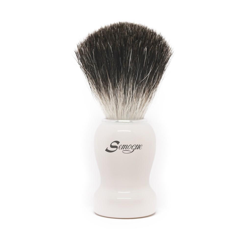 Pincel de Barba Pharos-C3 Texugo Pure Black Branco Ártico