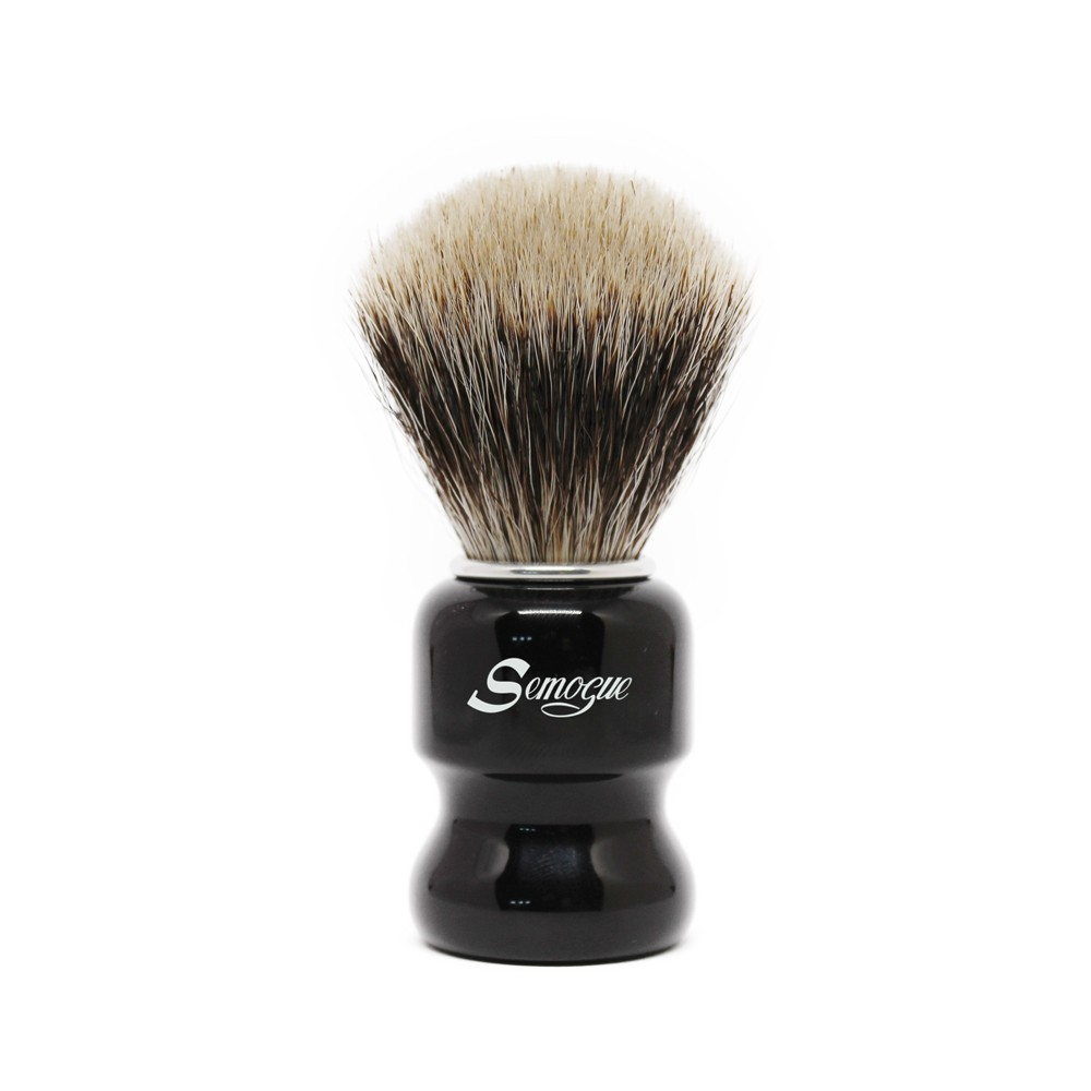 Pincel de Barba Semogue Torga-C3 Texugo Finest Jat Black
