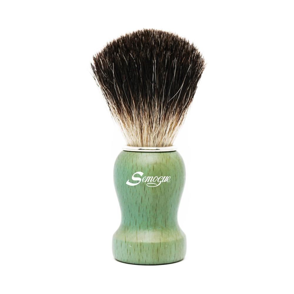 Pincel de Barba Pharos-C3 Texugo Pure Black Verde Oceano